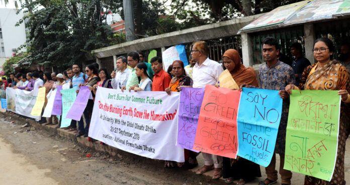 Bangladeshi CSOs campaign during global climate strike