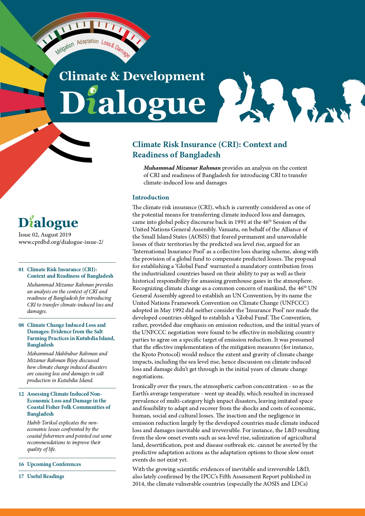 CLIMATE AND DEVELOPMENT DIALOGUE ISSUE 02